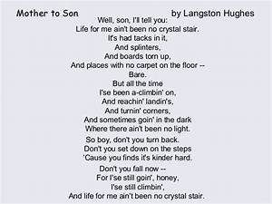 Langston Hughes Poems Mother To Son | www.pixshark.com ...
