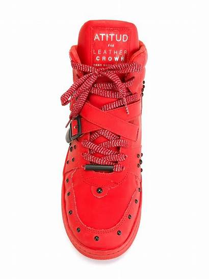 Leather Crown Sneakers Studded