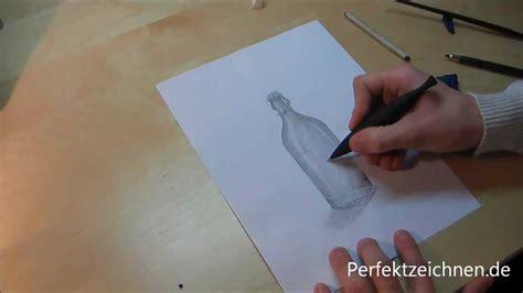 vorsicht glas perfekt zeichnen lernen flasche zeichnen