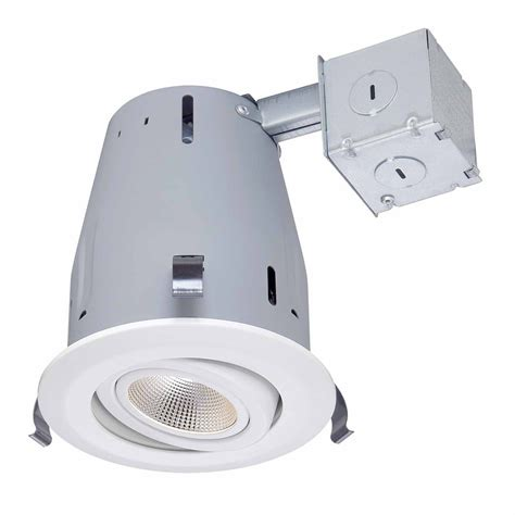 commercial electric 5 inch recessed lighting led recessed lighting kit shop utilitech pro brushed