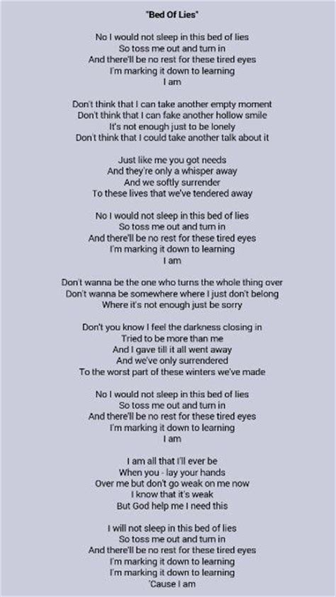 bed of lies matchbox 20 34 best mb20 song lyrics images on rob