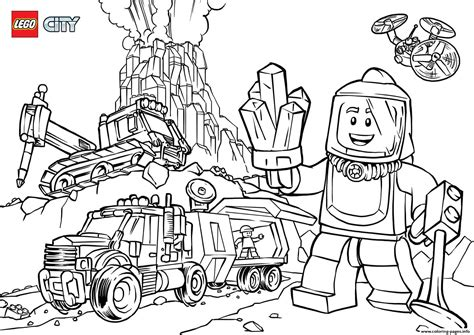 lego city volcano explorers coloring pages printable