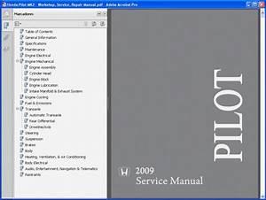 Honda Pilot Mk2 Service Manual