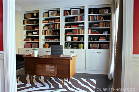 Home Office With New Builtin Bookcases  Our Fifth House