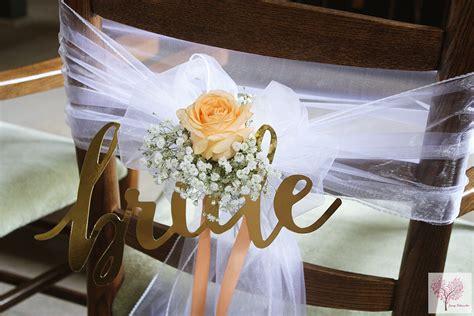 Vintage Deko Hochzeit Hocheitsdeko Kirche Brautstühle