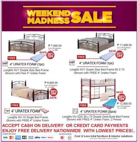 avail   discount  bed frame    uratex foam