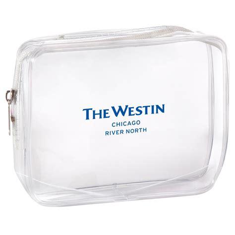 femmepromo imprinted clear rectangular zippered pouch