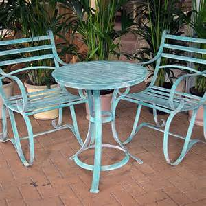 verdigris garden bistro set for 2