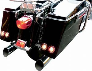 Saddlemen led saddlebag turn brake flush mount lights