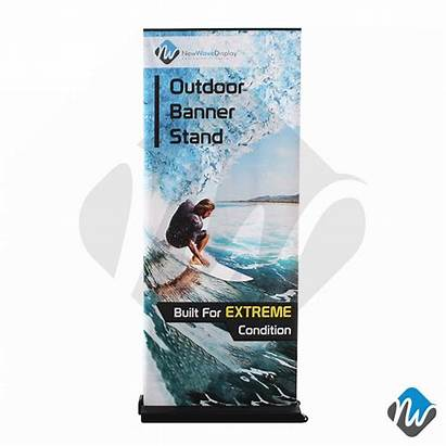 Banner Extreme Outdoor Roll Stands Door