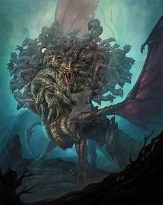 Ladon,The 100 Headed Dragon by Utas on DeviantArt