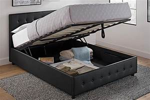 Cambridge Upholstered Bed with Storage DHP Furniture