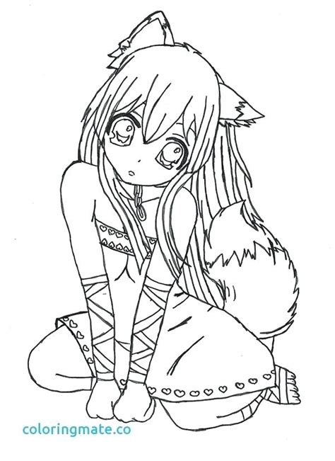 anime wolf girl coloring pages  getcoloringscom  printable colorings pages  print