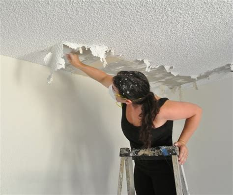 joy  popcorn ceiling removal centsational style