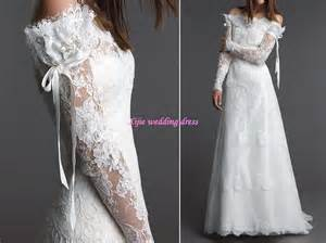 the shoulder wedding dress with lace sleeves stunning new style lace sleeves shoulder wedding dress wedding gown bridal dress angela