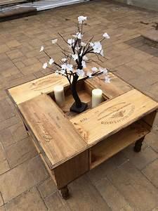 Table Basse Caisse Bois : diy fabriquez partir de caisses en bois des id es pour la d coration et le bricolage ~ Nature-et-papiers.com Idées de Décoration