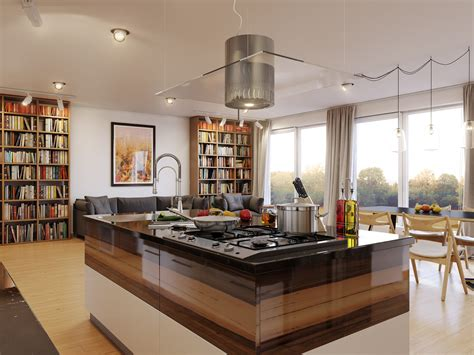 decorative kitchen islands luxury kitchen island table with picture and bookshelf