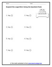 Expanding Logarithms Worksheet Expand The Logarithm Using The Quotient Rule