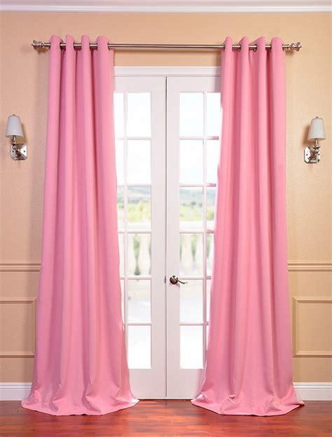 precious pink grommet blackout curtain contemporary
