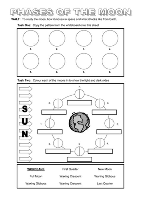 Powerpoint And Worksheet On The Moon By Dazayling  Teaching Resources Tes