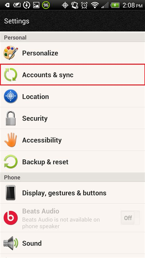 touchdown for smartphones settings android mail app for exchange 2010