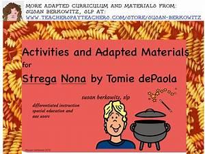Strega Nona Book Companion Activities For Speech Therapy