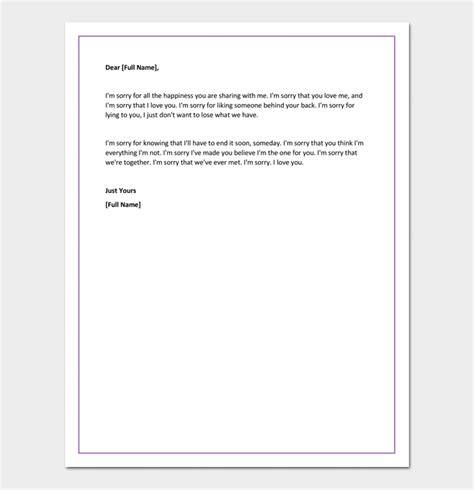 apology letter  girlfriend  cheating ignoring