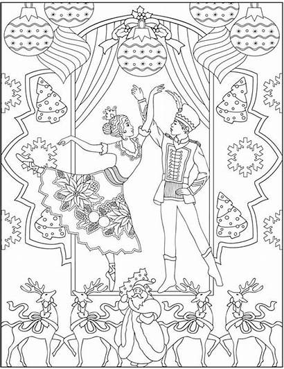 Coloring Nutcracker Pages Dover Welcome Ch Publications