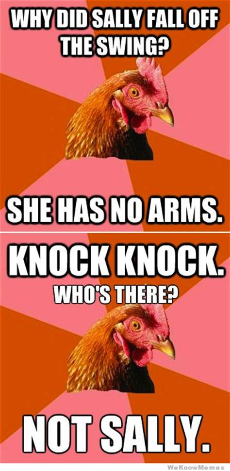 Rooster Jokes Meme - this is my favorite anti joke chicken joke by far chicken jokes humor and hilarious