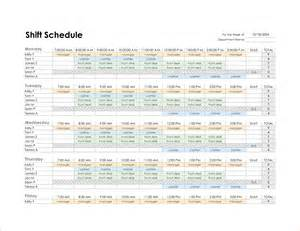 Weekly Schedule Template Excel 4 Monthly Schedule Template Excel Procedure Template Sle