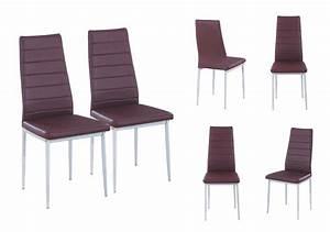 chaises cuir marron salle manger 7 idees de decoration With salle À manger contemporaineavec chaises cuir marron salle manger