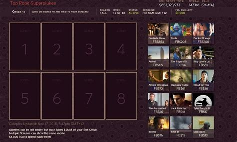 Competitive Movie Leagues  Fantasy Movie League