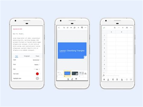 Google Docs, Sheets, and Slides apps get a new look on ...