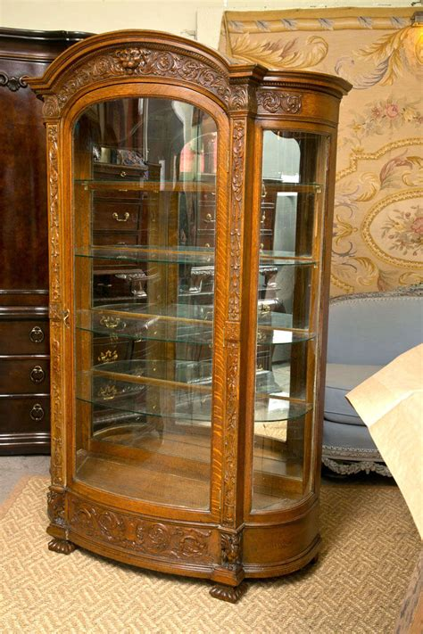 oak china cabinets for oak horner brothers carved china cabinet at 1stdibs