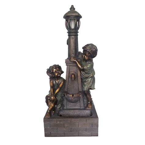 shop garden treasures 36 02 in resin statue at lowes