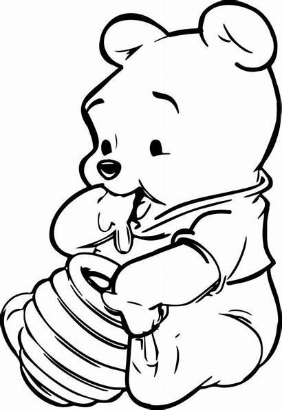 Pooh Winnie Disney Drawing Coloring Honey Figuren
