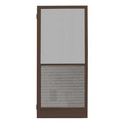 bronze screen door unique home designs 30 in x 80 in riviera bronze