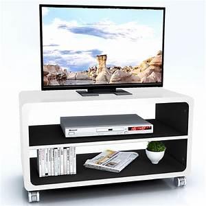 Tv Schrank Mit Rollen : tv rack batu in wei schwarz mit rollen caro m bel ~ Watch28wear.com Haus und Dekorationen