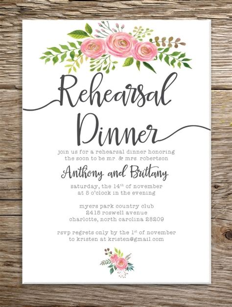 rehearsal dinner invitation template rehersal dinner invitations template resume builder