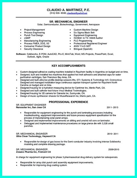 Chemical Engineering Resume by Successful Objectives In Chemical Engineering Resume