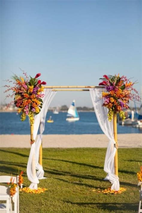 awesome tropical wedding ceremony ideas weddingomania