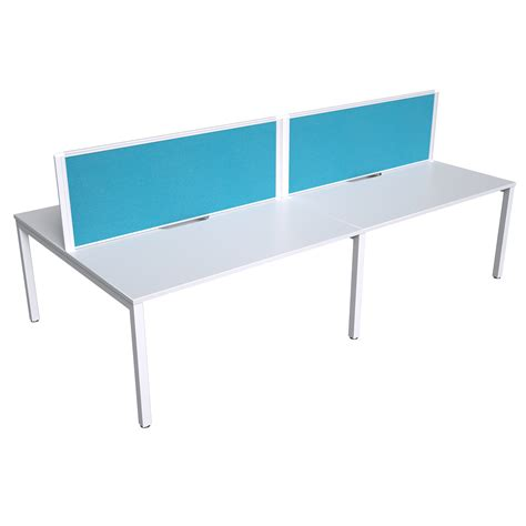 strata inline double sided desk  screens  person