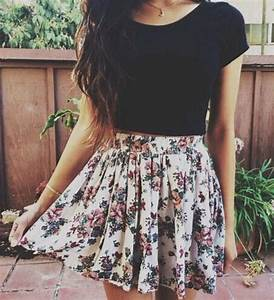 short floral dress tumblr