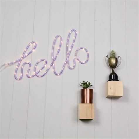 neon hello cloud or cactus wall light by home