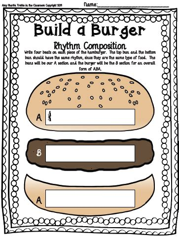 Composition Templates Thirfd build a burger composition template set treble in the