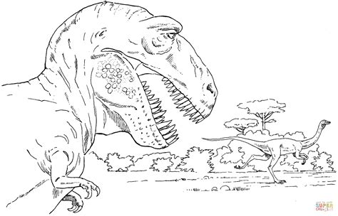 Tyrannosaurus And Rex Coloring Page