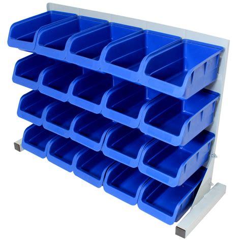 pce  standing blue plastic storage bin kit garage
