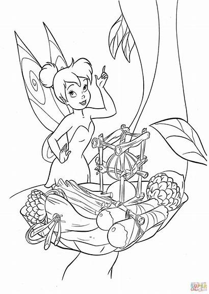 Tinkerbell Coloring Supercoloring Tinker Bell Colouring Sheets