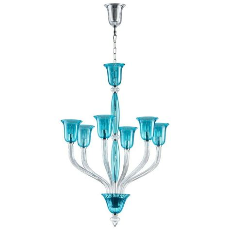 Light Chandeliers by Cyan Design Vetrai Six Light Chandelier Teal And Clear