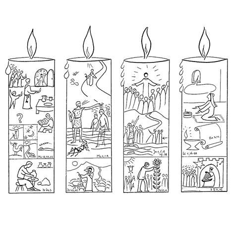 Vier Kleurplaat by Leuk Voor Vier Advent Kaarsen